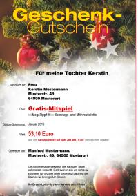 """Gutschein Nr. 2 """"Weihnachtskugeln"""""""
