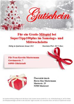 Lotto-Geschenk-Gutschein